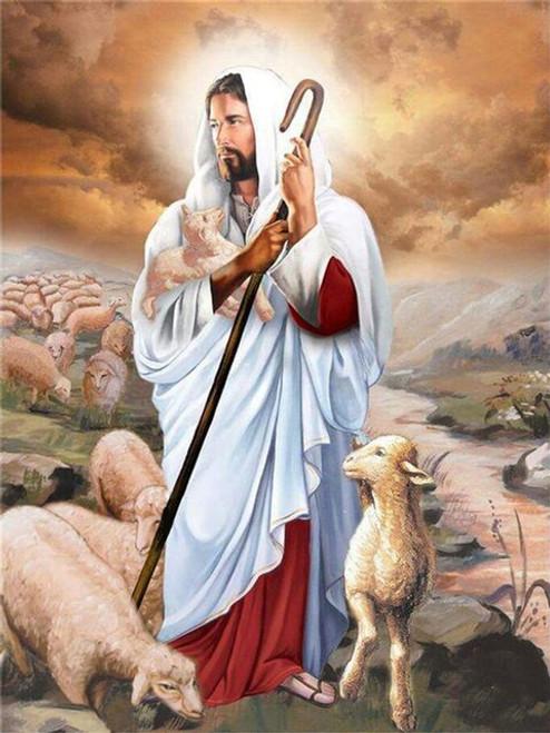 5D Diamond Painting Jesus Tending Sheep kit