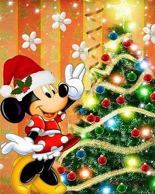 5D Diamond Painting Minnie Mouse Christmas Tree Kit