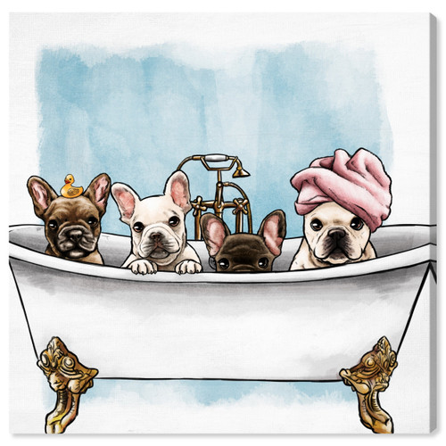 5D Diamond Painting Four Pups in a Tub Kit