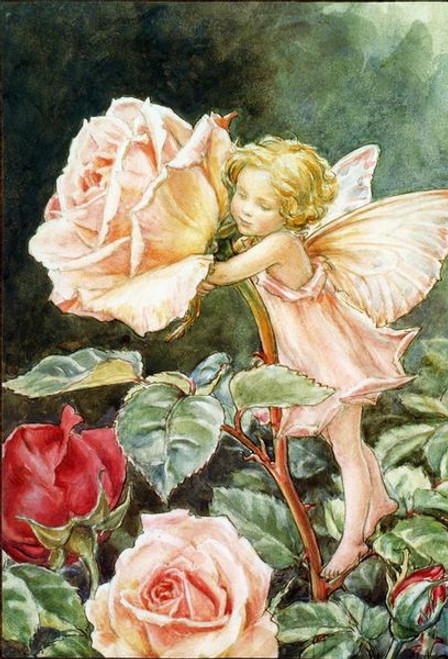 5D Diamond Painting Pale Pink Rose Fairy Kit