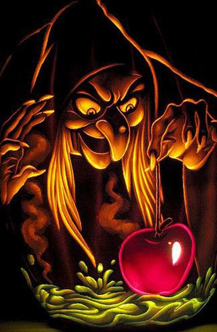 5D Diamond Painting Snow White Witch and Apple Kit