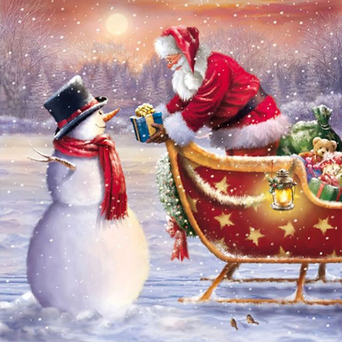 5D Diamond Painting Santa Gifts for a Snowman Kit
