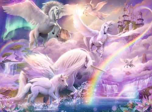 5D Diamond Painting Flying Unicorns Kit