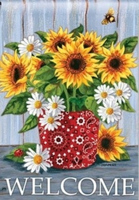 5D Diamond Painting Sunflower and Daisy Welcome Kit