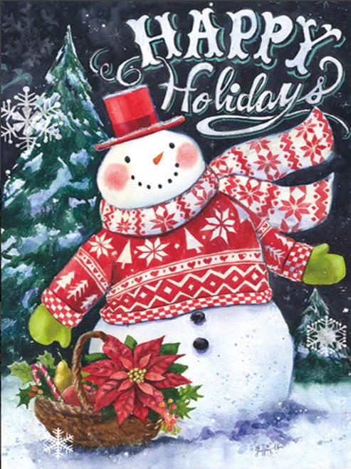 5D Diamond Painting Happy Holidays Winter Sweater Snowman Kit