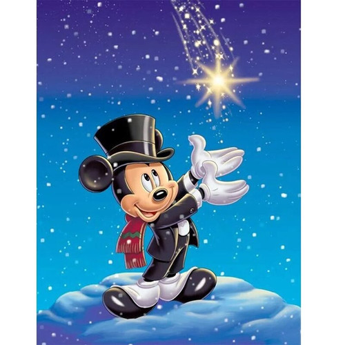 5D Diamond Painting Mickey Catch A Star Kit