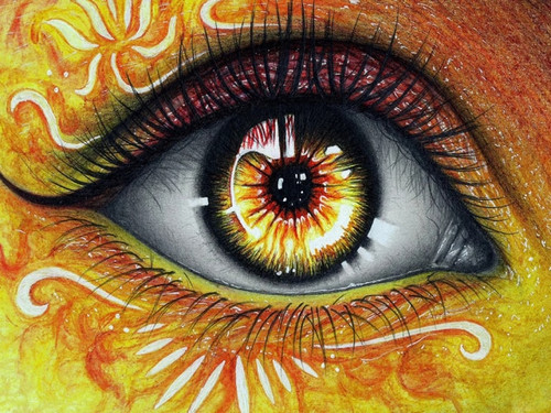 5D Diamond Painting Yellow Burst Eye Kit