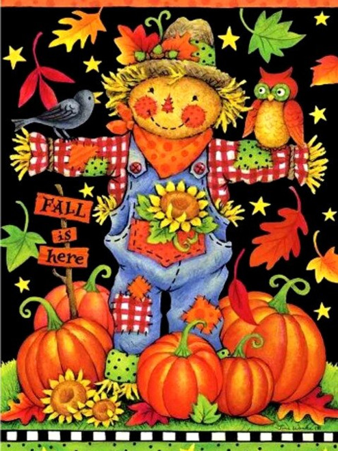 5D Diamond Painting Fall is Here Scarecrow Kit