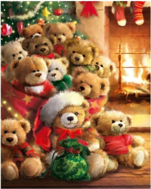 5D Diamond Painting Bag of Teddy Bears Kit