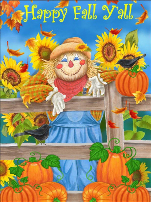 5D Diamond Painting Happy Fall Y'all Scarecrow Kit