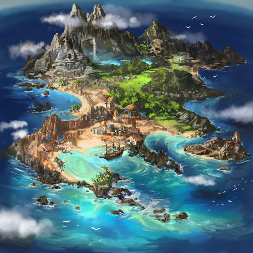 5D Diamond Painting Pirate Island Kit