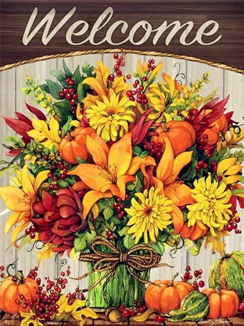 5D Diamond Painting Autumn Bouquet Welcome Kit