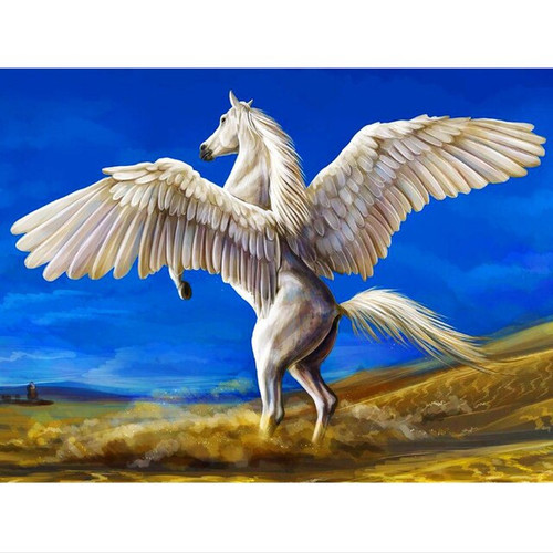 5D Diamond Painting Blue Sky Pegasus Kit
