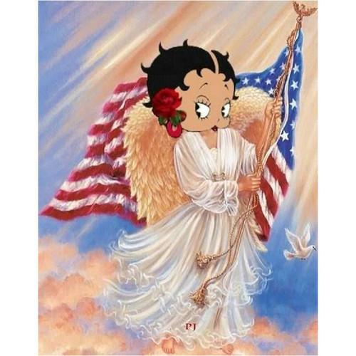 5D Diamond Painting Betty Boop American Angel Kit