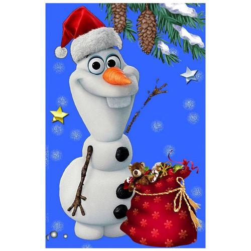 5D Diamond Painting Olaf Bag of Christmas Toys Kit