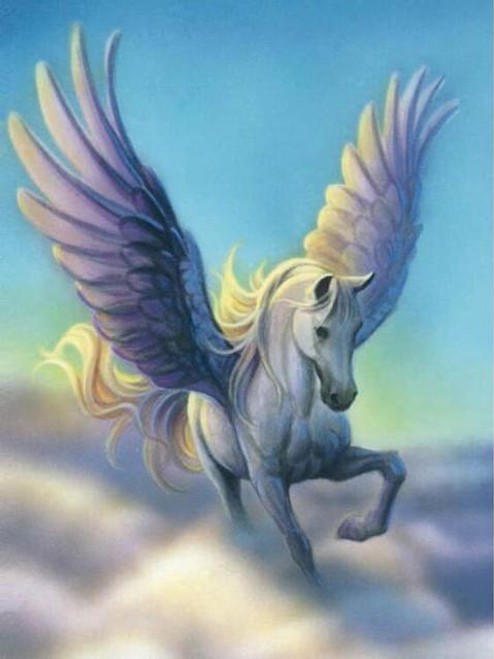 5D Diamond Painting White Pegasus in the Clouds Kit
