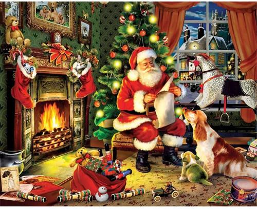 5D Diamond Painting Santa by the Fire Kit