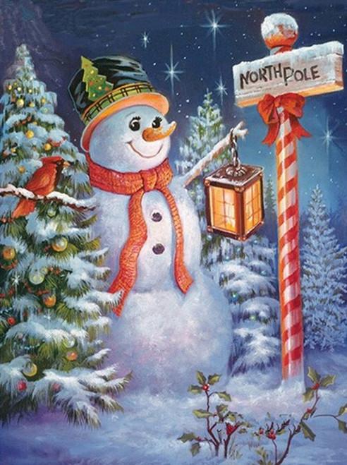 5D Diamond Painting North Pole Snowman Kit
