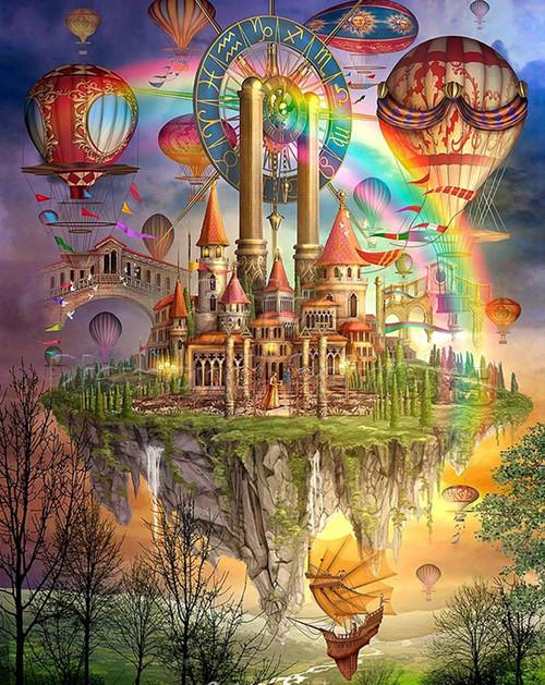 5D Diamond Painting Hot Air Balloon Kingdom Kit