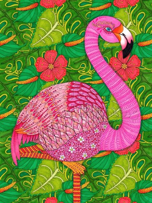 5D Diamond Painting Abstract Flamingo Kit