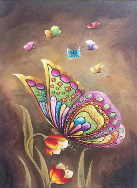 5D Diamond Painting Large and Small Butterflies Kit