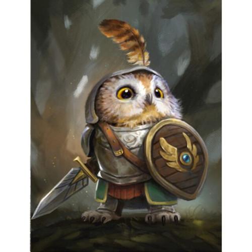 5D Diamond Painting Little Owl Warrior Kit