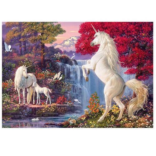 5D Diamond Painting Three Unicorns Along the River Kit