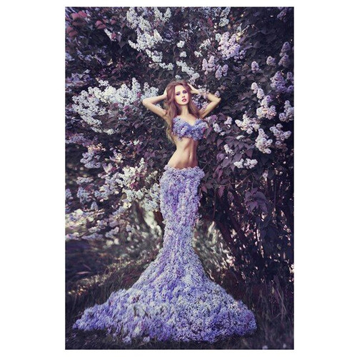 5D Diamond Painting Lilac Girl Kit