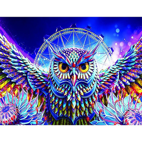 5D Diamond Painting Colorful Wing Owl Kit