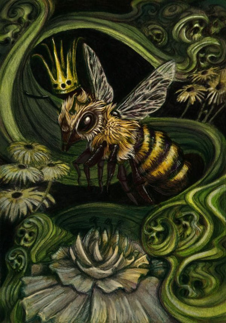 5D Diamond Painting Abstract Queen Bee Kit