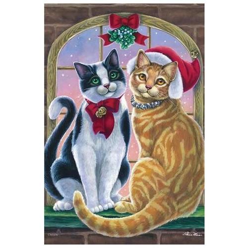 5D Diamond Painting Christmas Bell Cats Kit