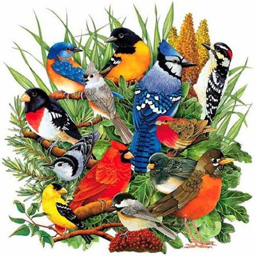 5D Diamond Painting Birds in the Leaves Kit