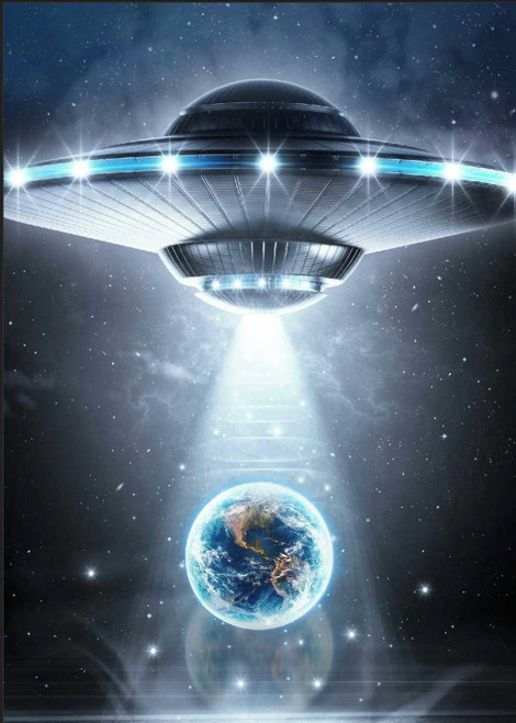 5D Diamond Painting Space Ship and Earth Kit