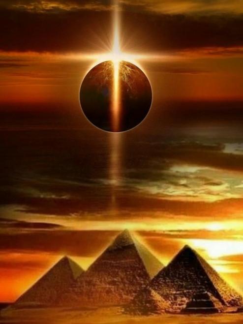 5D Diamond Painting Golden Pyramids Kit