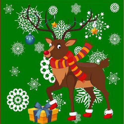 5D Diamond Painting Snowflake Reindeer Kit