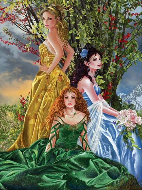 5D Diamond Painting Three Women In Dresses Kit