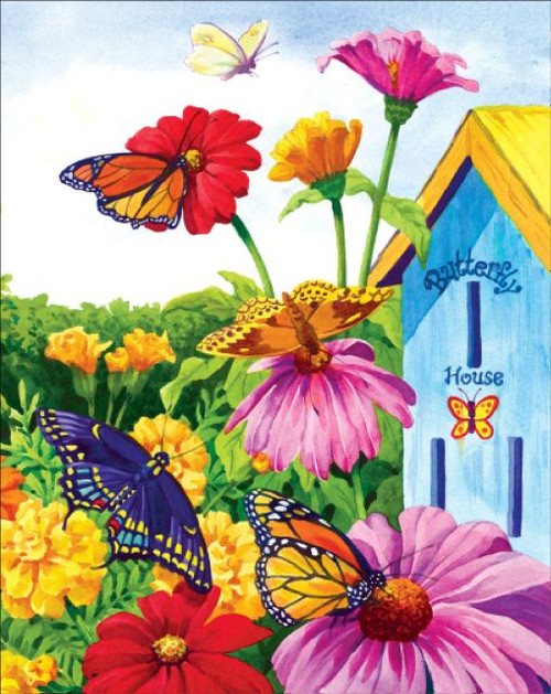 5D Diamond Painting Butterfly House Kit