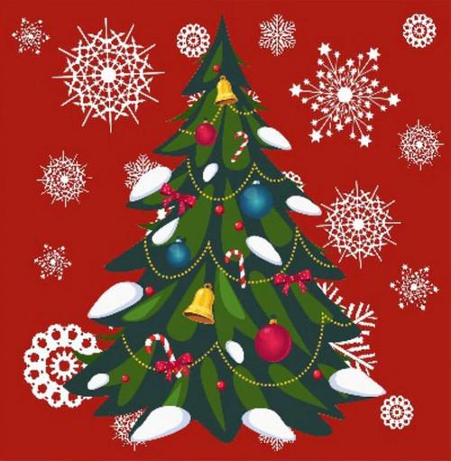 5D Diamond Painting Snow Flake Christmas Tree Kit