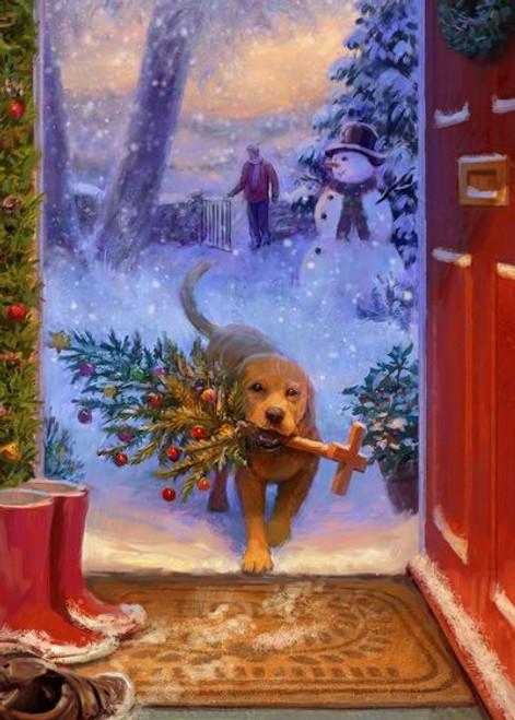 5D Diamond Painting  Christmas Tree Retriever Kit