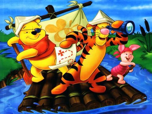 5D Diamond Painting Wood Raft Adventure With Pooh Kit