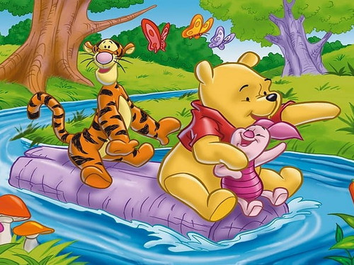 5D Diamond Painting On a Log with Winne the Pooh Kit