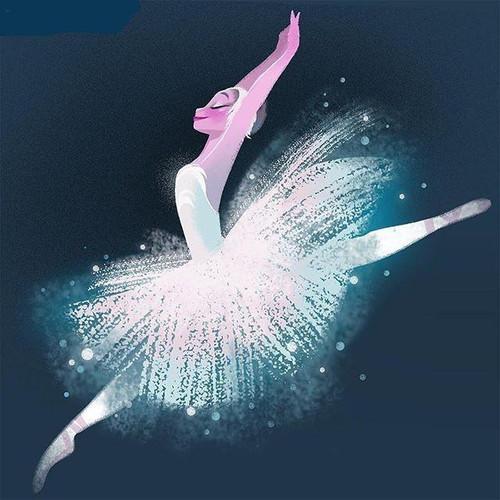 5D Diamond Painting White Dress Ballerina Kit