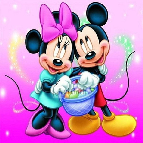 5D Diamond Painting Minnie and Mickey Easter Basket Kit
