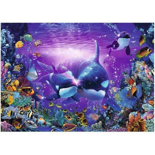 5D Diamond Painting Kissing Orcas Kit