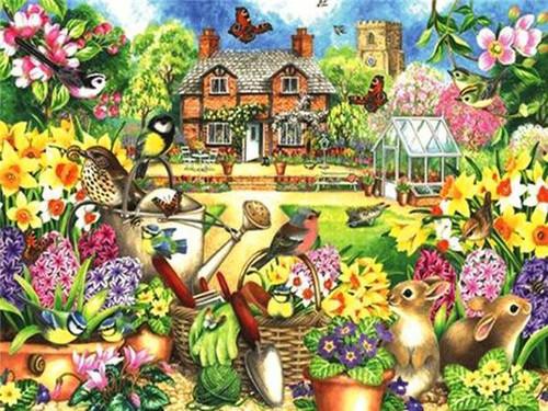 5D Diamond Painting Gardening Cottage Kit