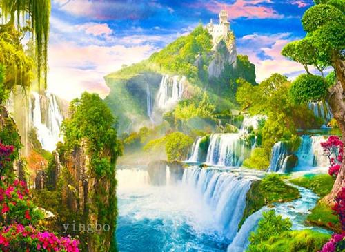 5D Diamond Painting Jungle Falls Kit