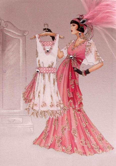 5D Diamond Painting Dress Shopping Flapper Kit