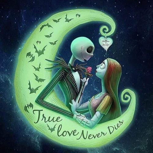 5D Diamond Painting True Love Never Dies Jack Skellington Kit