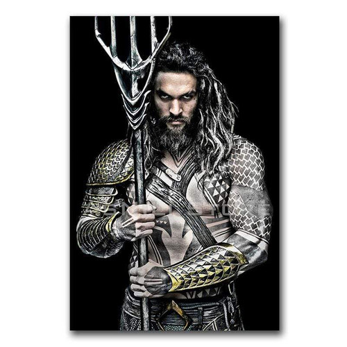 5D Diamond Painting Aquaman and the Trident of Neptune Kit