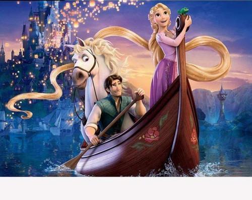 5D Diamond Painting Rapunzel & Flynn Boat Kit